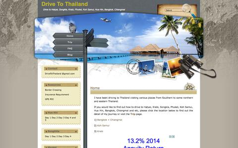 Screenshot of Home Page drivetothailand.com - Drive To Thailand - captured Oct. 9, 2015