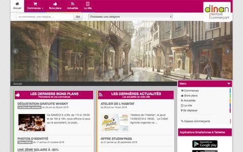 Screenshot of Home Page commerces-dinan.fr - Boutic Dinan : commerces, bons plans, actualités de votre centre ville - captured June 8, 2018