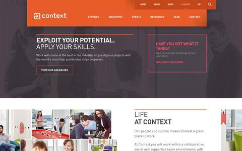 Screenshot of Jobs Page contextis.com - Careers at Context | Context Information Security EN - captured Sept. 28, 2018