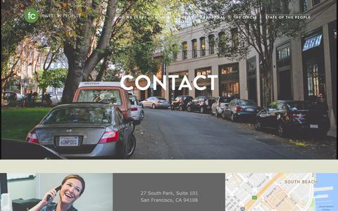Screenshot of Contact Page founderscircle.com - Contact — Founders Circle - captured Dec. 26, 2016