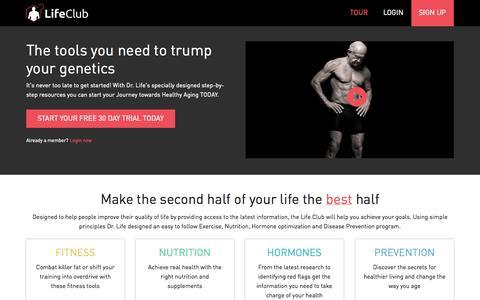 Screenshot of Signup Page drlife.com - Tour     DrLife.com - captured Sept. 24, 2014