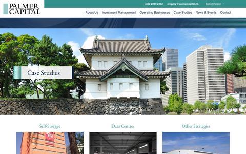 Screenshot of Case Studies Page palmercapital.hk - Case Studies | Palmer Capital Asia - captured Jan. 25, 2016