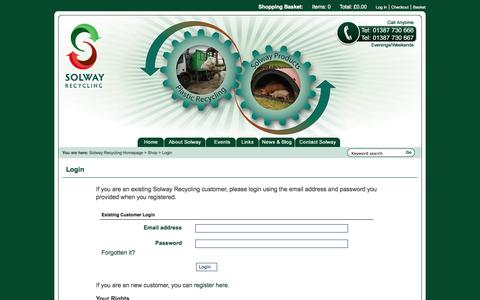 Screenshot of Login Page solwayrecycling.co.uk - Default page title - captured Oct. 9, 2014