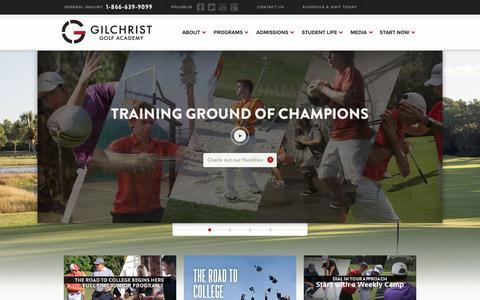 Screenshot of Home Page ggga.com - Gary Gilchrist Golf Academy | GGGA - captured Jan. 26, 2016
