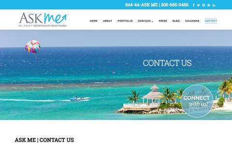 Screenshot of Contact Page askmeinc.com - Contact – Ask Me Inc. - captured July 26, 2016
