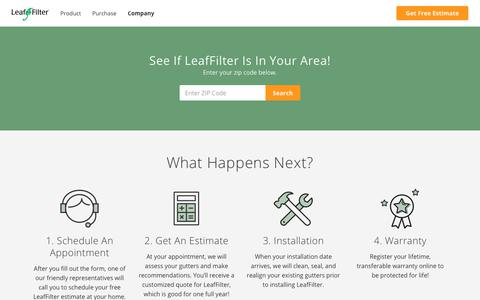 Screenshot of Locations Page leaffilter.com - Locations   LeafFilter - captured Oct. 25, 2018
