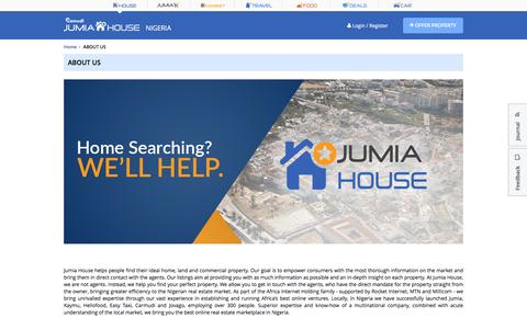 Screenshot of About Page jumia.com.ng - ABOUT US - captured Sept. 18, 2016