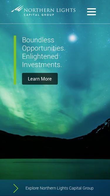 Screenshot of Home Page  northernlightsventures.com - Northern Lights Capital Group | Multi-boutique Asset Management
