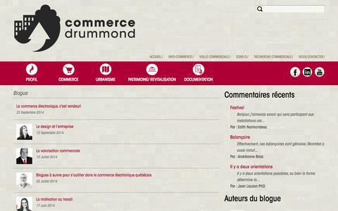 Screenshot of Blog commerce-drummond.com -   Commerce Drummond - captured Sept. 30, 2014