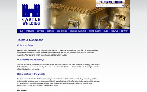Screenshot of Terms Page castlewelding.co.uk - Website Terms & Conditions of Use - Castle Welding and Fabrication - captured Oct. 2, 2014