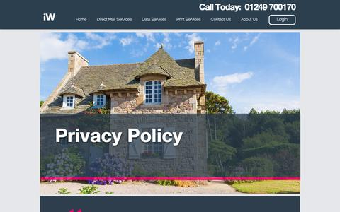 Screenshot of Privacy Page informationworks.co.uk - Privacy Policy | Information Works - captured Nov. 6, 2018