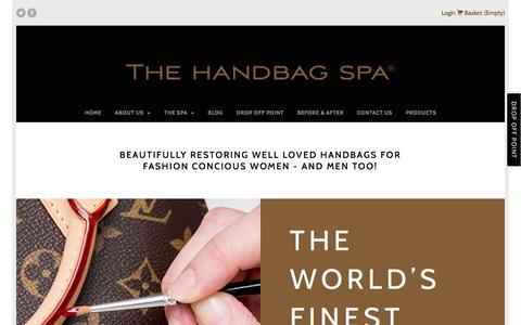 Screenshot of Home Page thehandbagspa.com - The Handbag Spa: Handbag Repair, Restoration and Cleaning - The Handbag Spa - captured Nov. 30, 2016