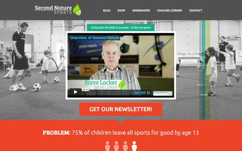 Screenshot of Home Page 2nsports.com - Second Nature Sports - captured Oct. 6, 2014