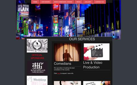 Screenshot of Services Page rethinkcomedy.com - comedy - Rethink comedy - Services - captured Aug. 16, 2015