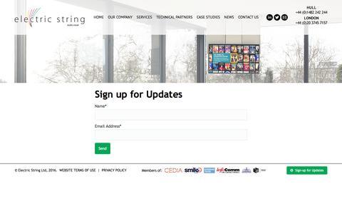 Screenshot of Signup Page electric-string.com - Sign Up - Electric String - captured Nov. 3, 2016