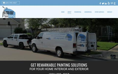 Screenshot of About Page amwpainting.com - Painting Company Katy | Painting Projects | AMW Painting - captured July 28, 2018