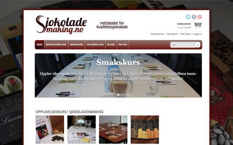 Screenshot of Home Page sjokoladesmaking.no - Sjokoladesmaking.no » for kjennere av kvalitetssjokolade - captured Nov. 19, 2016