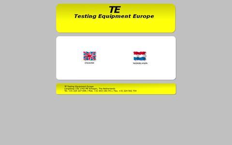 Screenshot of Home Page te-europe.nl - TE Europe - Home - captured Oct. 6, 2014
