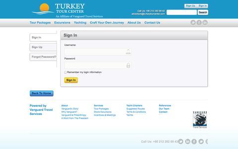 Screenshot of Login Page turkeytourcenter.com - Turkey Tour Center - captured Oct. 9, 2014
