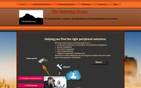 Screenshot of Home Page thespieringgroup.com - the-spiering-group - captured Oct. 9, 2014