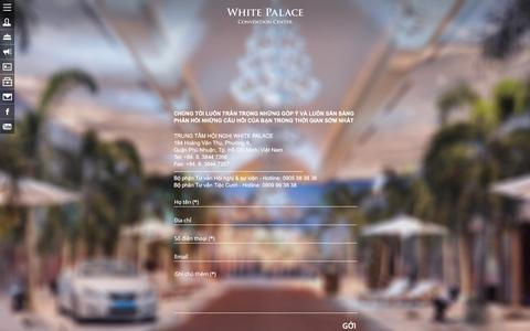 Screenshot of Contact Page whitepalace.com.vn - LIÊN HỆ - WHITE PALACE - captured March 17, 2016