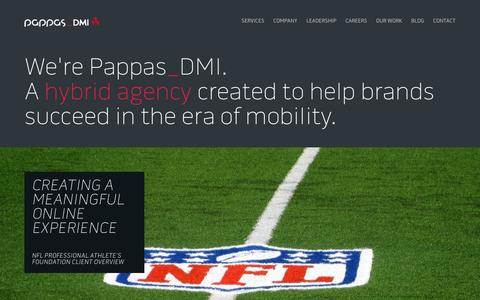 Screenshot of Home Page pappasgroup.com - Pappas Group - A Full Service Digital Agency Building Brands for the Connected Era Pappas Group - captured Jan. 25, 2016