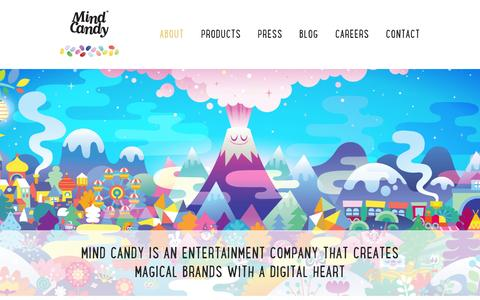Screenshot of About Page mindcandy.com - Mind Candy - captured June 16, 2015