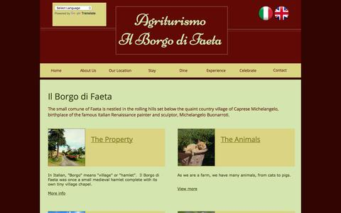 Screenshot of About Page ilborgodifaeta.com - il-borgo-di-faeta | About Us - captured March 18, 2017
