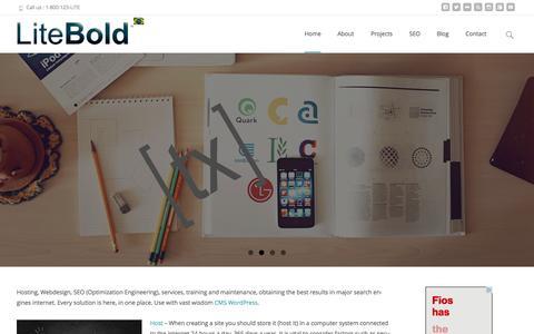 Screenshot of Home Page litebold.com - Internet solutions - WordPress Development   LiteBold - captured Oct. 7, 2015