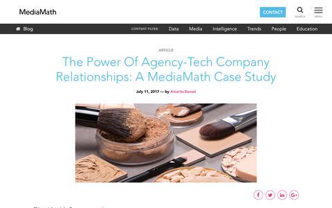 Screenshot of Case Studies Page mediamath.com - MediaMath Blog - The Power Of Agency-Tech Company Relationships: A MediaMath Case Study - captured Nov. 18, 2019