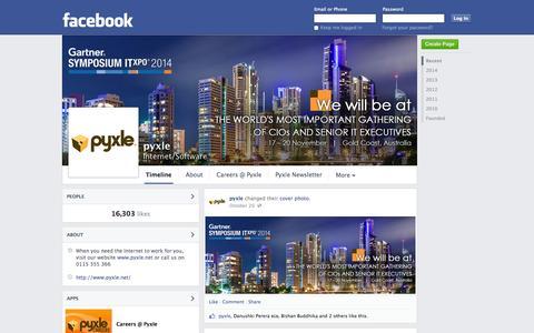 Screenshot of Facebook Page facebook.com - pyxle | Facebook - captured Oct. 22, 2014