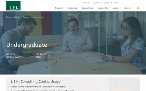 Undergraduate   L.E.K. Consulting