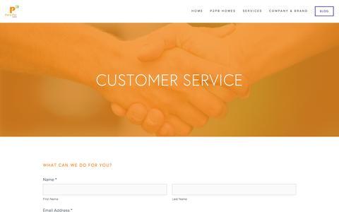 Screenshot of Support Page piertopierbrokers.com - customer service — Pier to Pier Brokers (P2PB) - captured Jan. 28, 2016