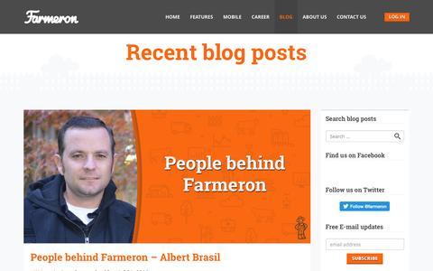 Screenshot of Blog farmeron.com - Farmeron Blog - Farmeron - captured July 3, 2016