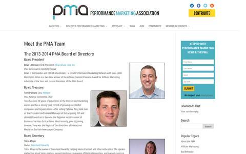 Screenshot of Team Page thepma.org - Meet the PMA Team | The PMA - captured Sept. 23, 2014