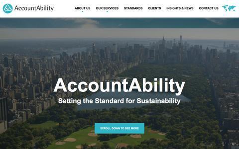 Screenshot of Home Page accountability.org - Homepage - AccountAbility - captured May 28, 2017