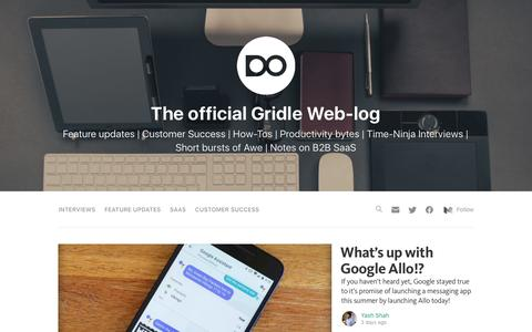 Screenshot of Blog gridle.io - Official Gridle Blog - captured Sept. 24, 2016