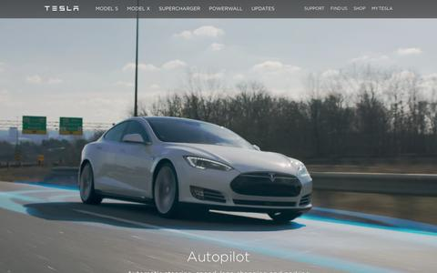 Screenshot of Home Page teslamotors.com - Tesla Motors | Premium Electric Vehicles - captured Feb. 24, 2016