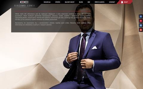 Screenshot of Home Page giacomo.pl - Garnitury, marynarki, koszule, krawaty - Giacomo Conti - captured Sept. 23, 2014