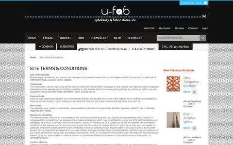 Screenshot of Terms Page ufabstore.com - Site Terms & Conditions - captured Oct. 3, 2014