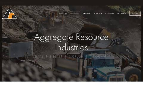 Screenshot of Home Page ariinc.com - Aggregate Resource Industries - captured Sept. 10, 2015