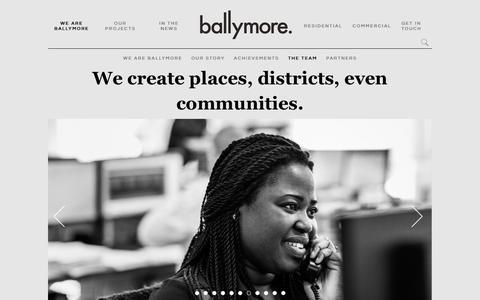 Screenshot of Team Page ballymoregroup.com - The Team | Ballymore - captured Nov. 5, 2016