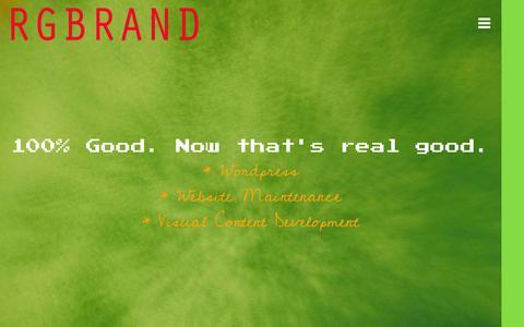 Screenshot of Home Page rgbrand.com - WordPress & Visual Content Development | RGBRAND - captured Jan. 29, 2015