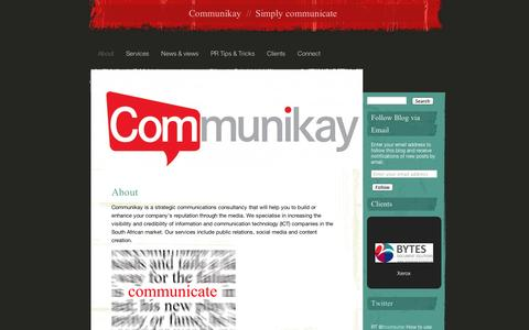 Screenshot of About Page wordpress.com - Communikay | Simply communicate - captured Sept. 12, 2014