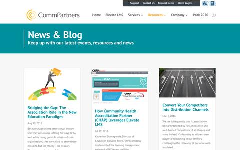 Screenshot of Blog commpartners.com - Our Blog | Webinars, Webcasts, LMS, eLearning Marketing Platform - captured Jan. 11, 2020