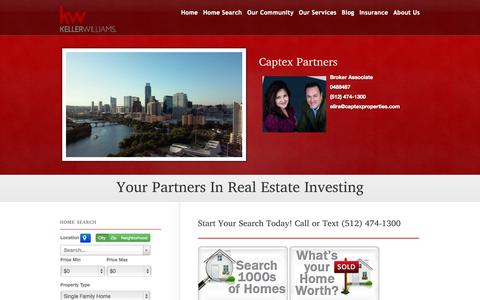 Screenshot of Home Page sellaustintxhomes.com - Captex Partners - captured June 18, 2015