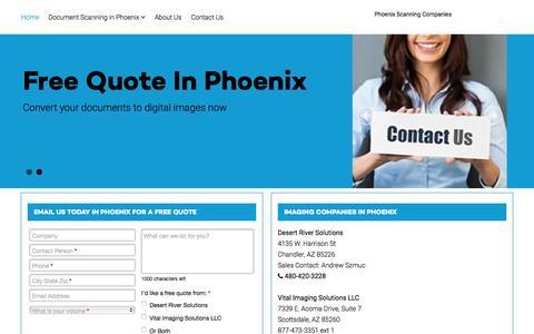 Screenshot of Home Page documentscanning-phoenix.com - Phoenix document scanning companies - Document Scanning in Phoenix - captured Jan. 28, 2016