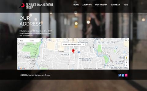Screenshot of Maps & Directions Page scarletmanagementgroup.com - scarlet | MAP - captured July 27, 2018