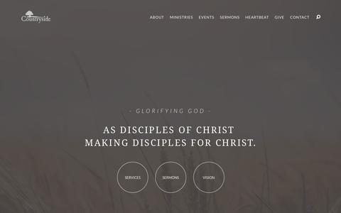 Screenshot of Home Page cside.org - Countryside – A Church Where Friends Become Family - captured Sept. 4, 2017