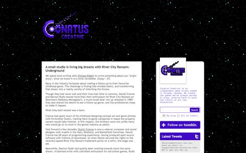 Screenshot of Press Page conatuscreative.com - Conatus Creative - captured Oct. 3, 2014